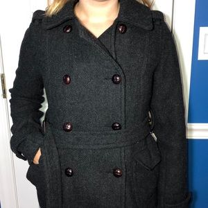 AE OUTFITTERS Black Pea Coat